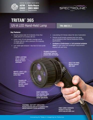 TRITAN 365 NDTランプはASTM E3022に準拠 - Spectroline