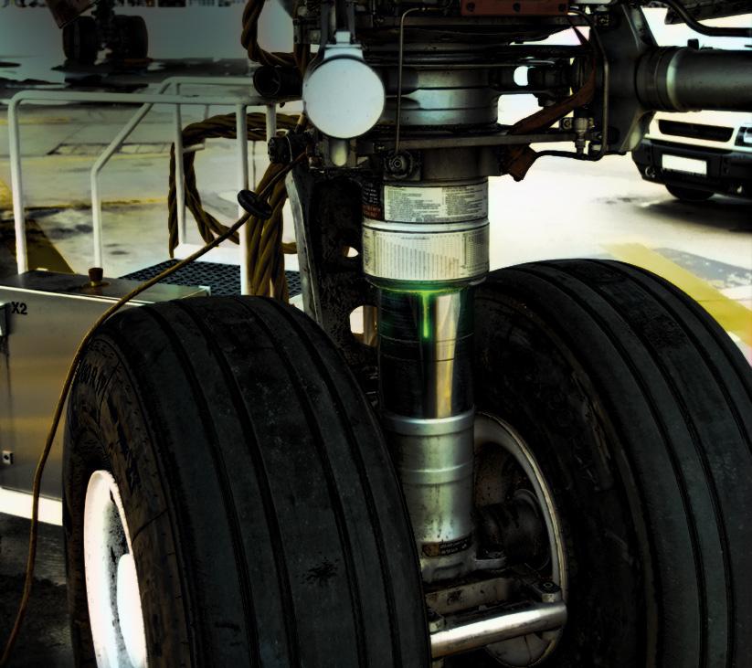 Airplane Hydraulic Leak
