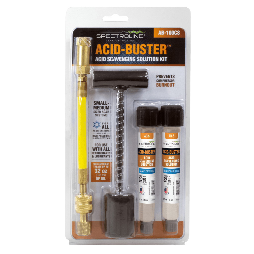 Spectroline's Acid-Buster Kit AB-100CS for eliminating acid buildup
